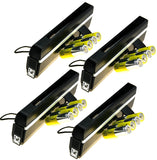 4 x Portable UV Money Checkers with Batteries - Detects Forged Polymer & Paper Bank Notes