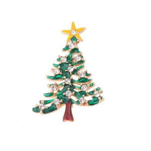 Fashion Chain Jewelry Christmas Tree Rhinestone Brooch Jewelry Nice accessories suitable apparel #45