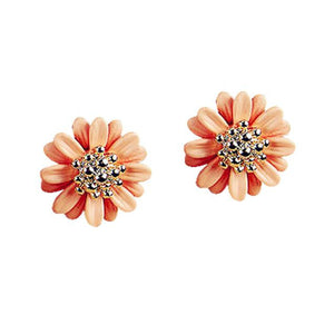 New Fashion Women Lady Elegant daisy flower Cute Ear Stud Earrings