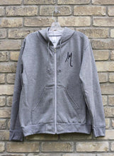 Unisex Sport Grey Zip Up Sweater