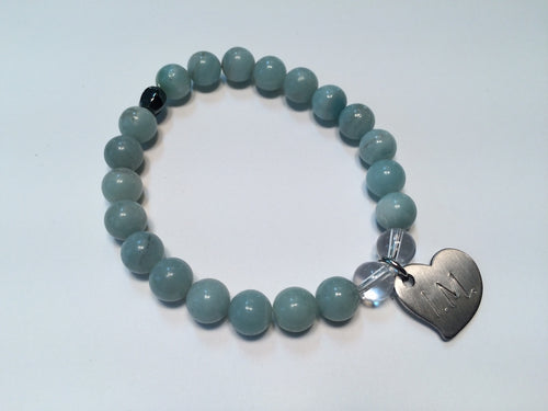 'I am Courageous' Gemstone Bracelet - Amazonite
