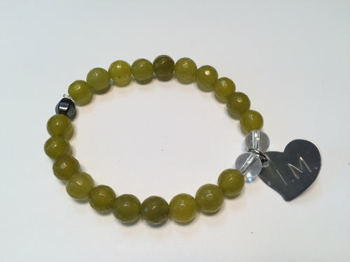 'I am Beautiful' Gemstone Bracelet - Peridot