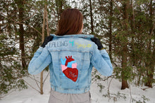 'I am Falling For Myself' Vintage Jean Jacket