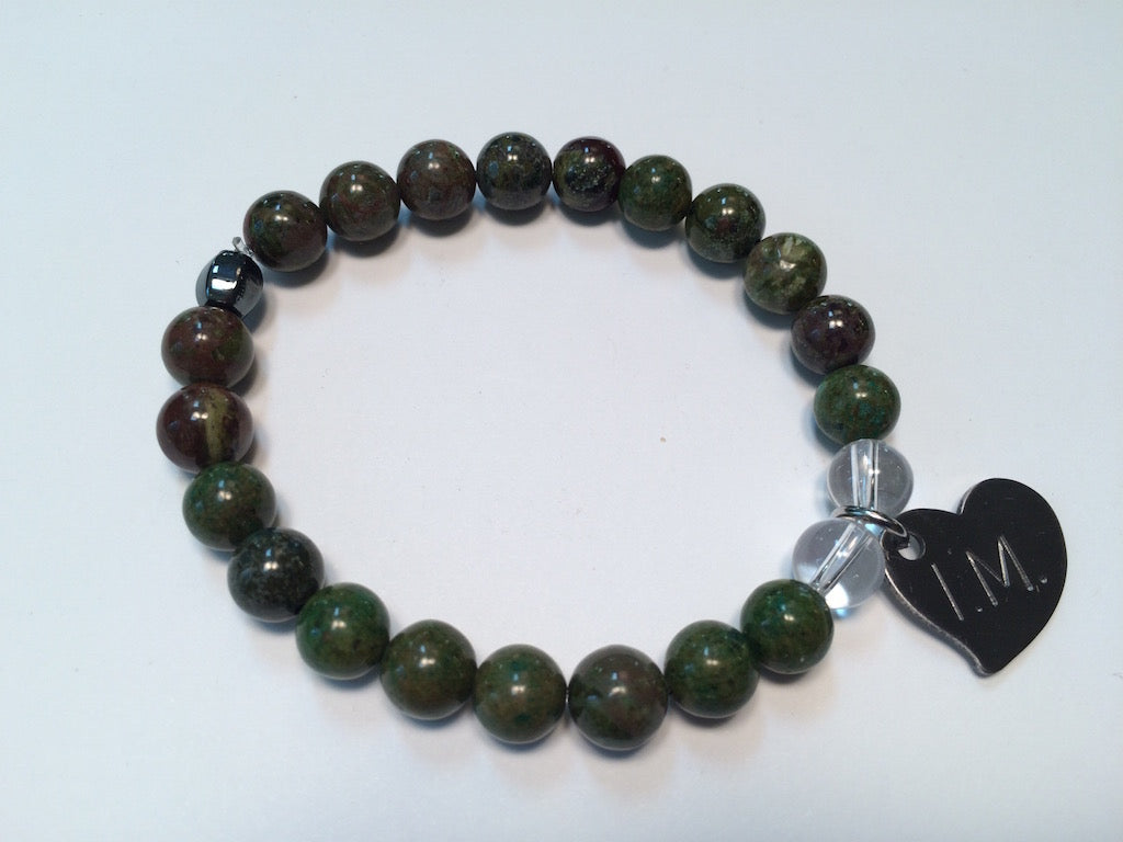 'I am Worthy' Gemstone Bracelet - Rainforest Jasper