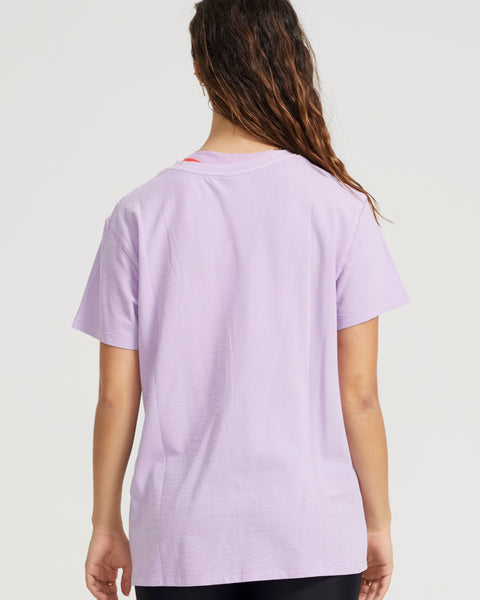 Heads Up High Twist Tee in Lilac