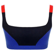 Colour Block Bralet - Indigo Blue Red