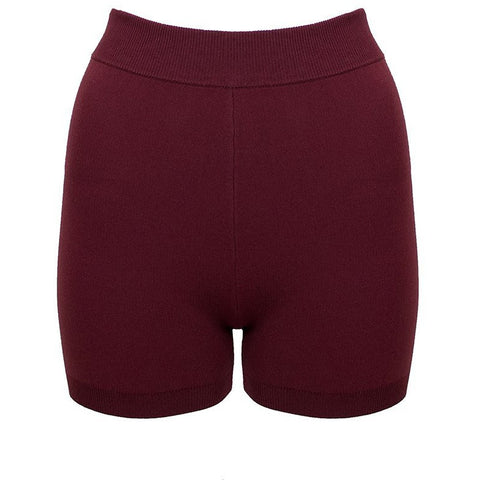 Hi-Rise Mini Yoni Short - Burgundy Tonal