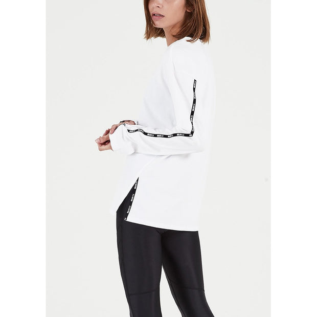Macro Long Sleeve Top - White