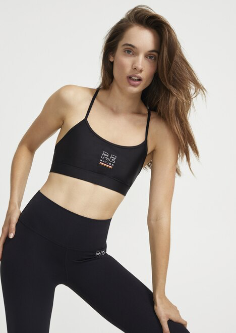 Training Day Sports Bra in Black - Prae Store
