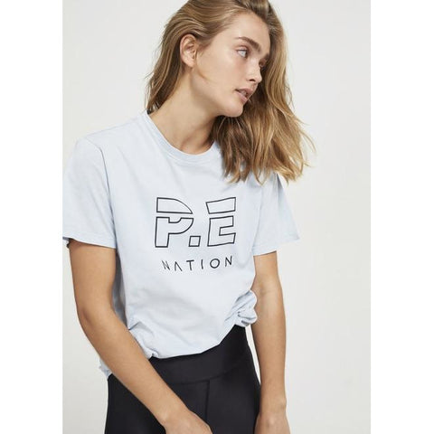 Heads Up Tee - Pale Blue - Prae Store
