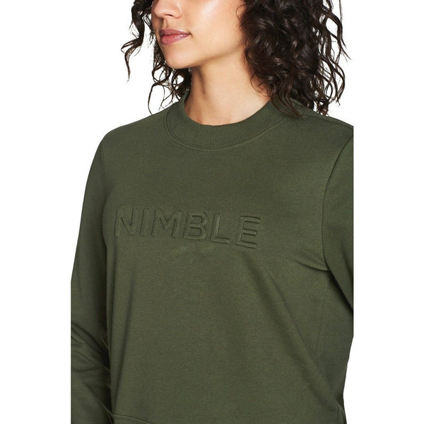 Embossed Crew - Forest Green