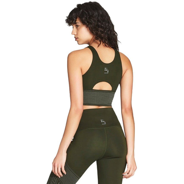 Long Line Sports Bra - Glow Khaki