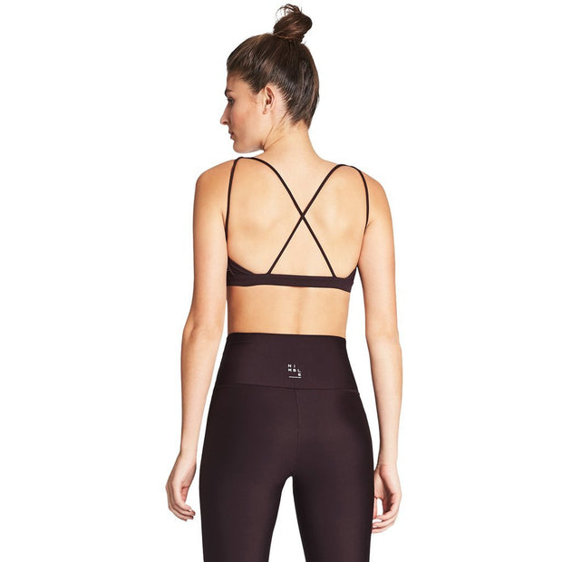 Flow Freely Sports Bra - Rasin