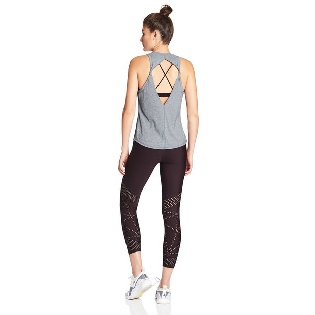 Double Twist Back Tank - Blue Mottle