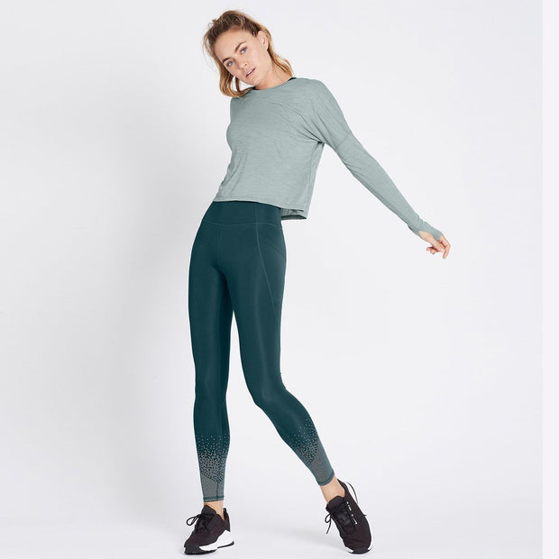 Stop and Stretch Long Sleeve - Heather Sage