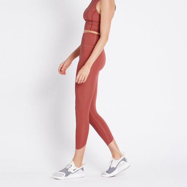 All Day High Rise Tight - Marsala