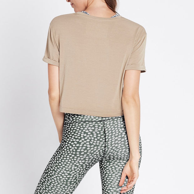 Cut The Crop Tee - Silver Sage