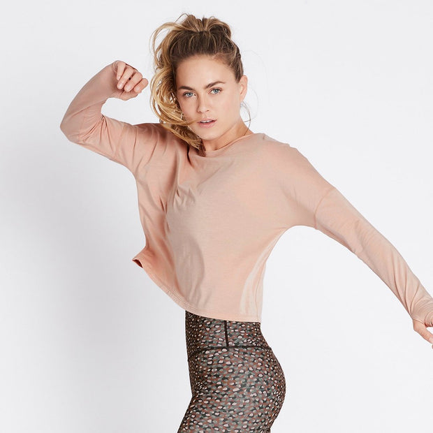 Stop and Stretch Long Sleeve - Dusty Pink
