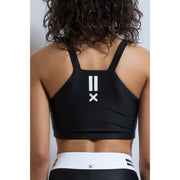 Track Side Crop Top - Black