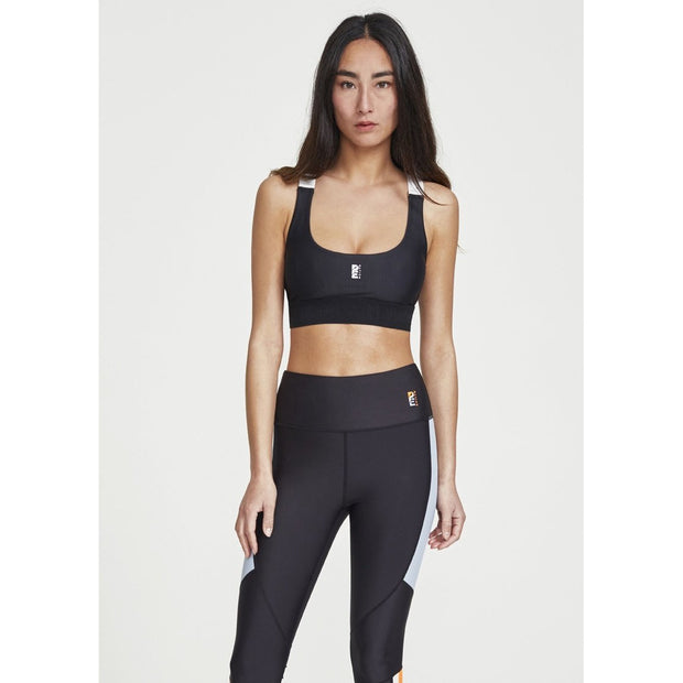 Division Round Sports Bra Black White