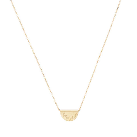 14k Gold Mini Lotus Necklace - Prae Store