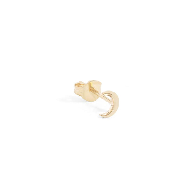14k Gold Over The Moon Studs