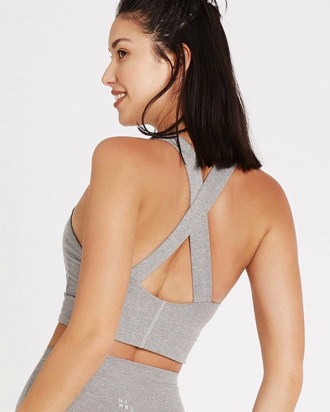 Studio Cross Back Bra - Grey Speckle