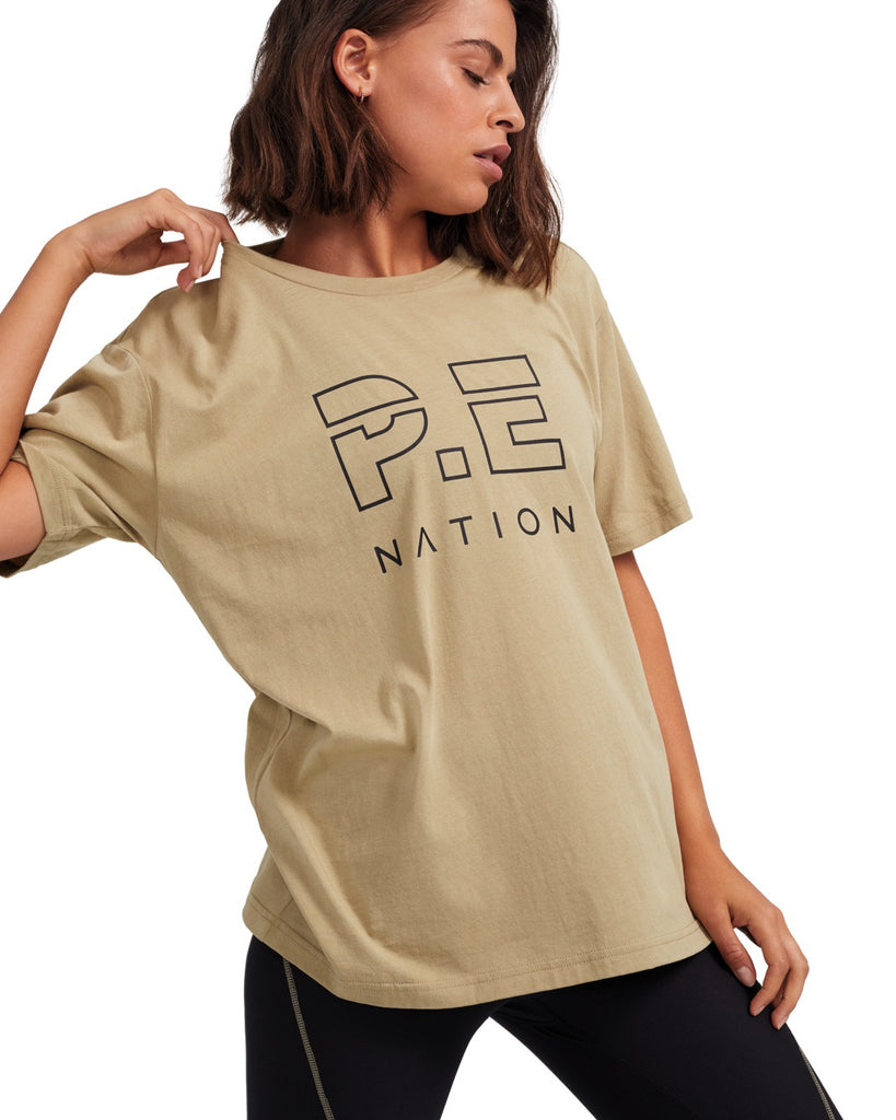 Heads Up Tee - Olive Gray - Prae Store