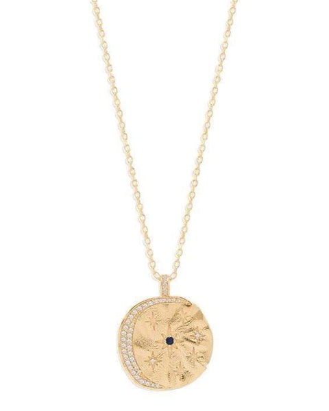 Gold Heavenly Moonlight Necklace - Prae Store