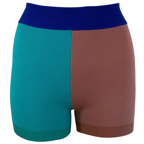 Colour Block Yoni Short - Jade Blush Azure Blue - Prae Store