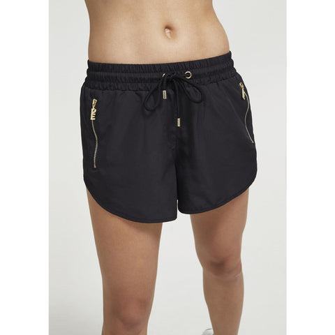 Double Drive Short in Black with Gold - Prae Store