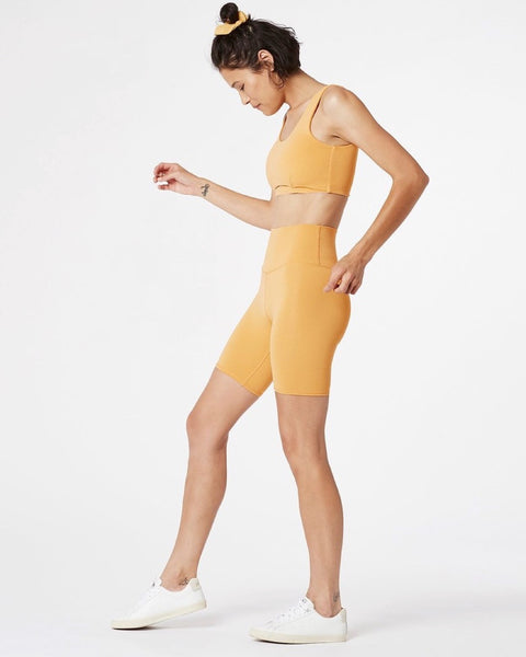 Ribbed Bike Short - Ochre - Prae Store