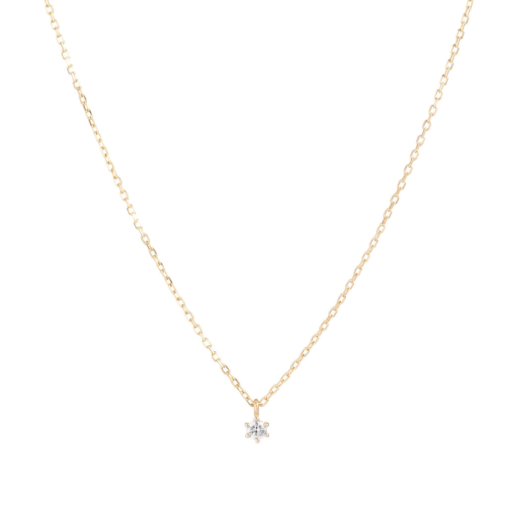 14k Gold Sweet Droplet Diamond Necklace - Prae Store