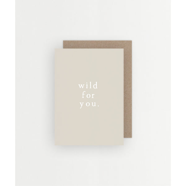 Wild For You Card - Prae Store