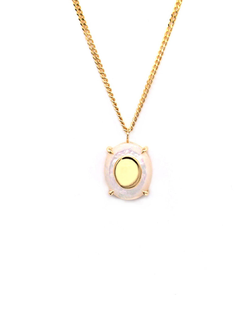 Petite Suma Necklace with Mother of Pearl - Prae Store