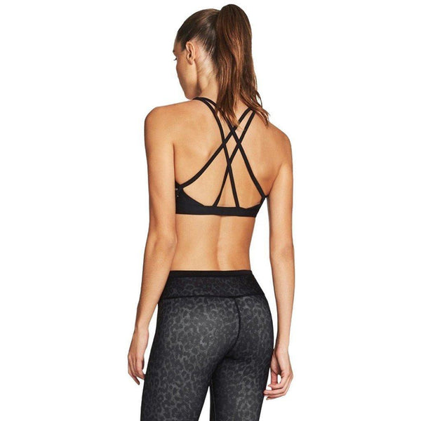 Criss Cross Sports Bra - Black