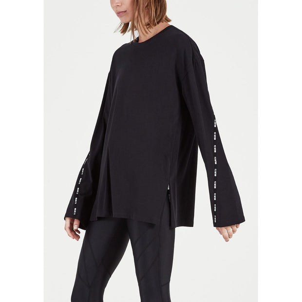 Macro Long Sleeve Top - Black