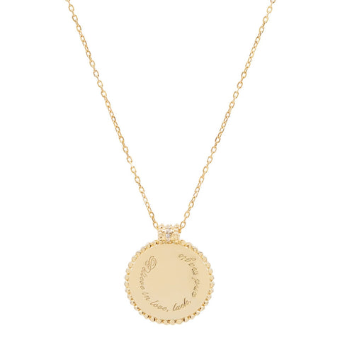 Gold Believe In Luck Necklace - Prae Store