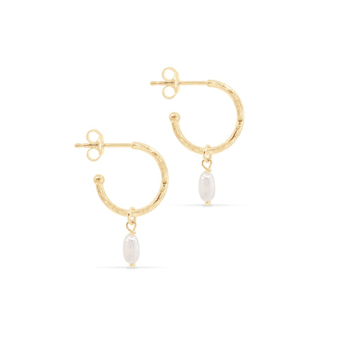 Gold Eternal Peace Hoops - Prae Store