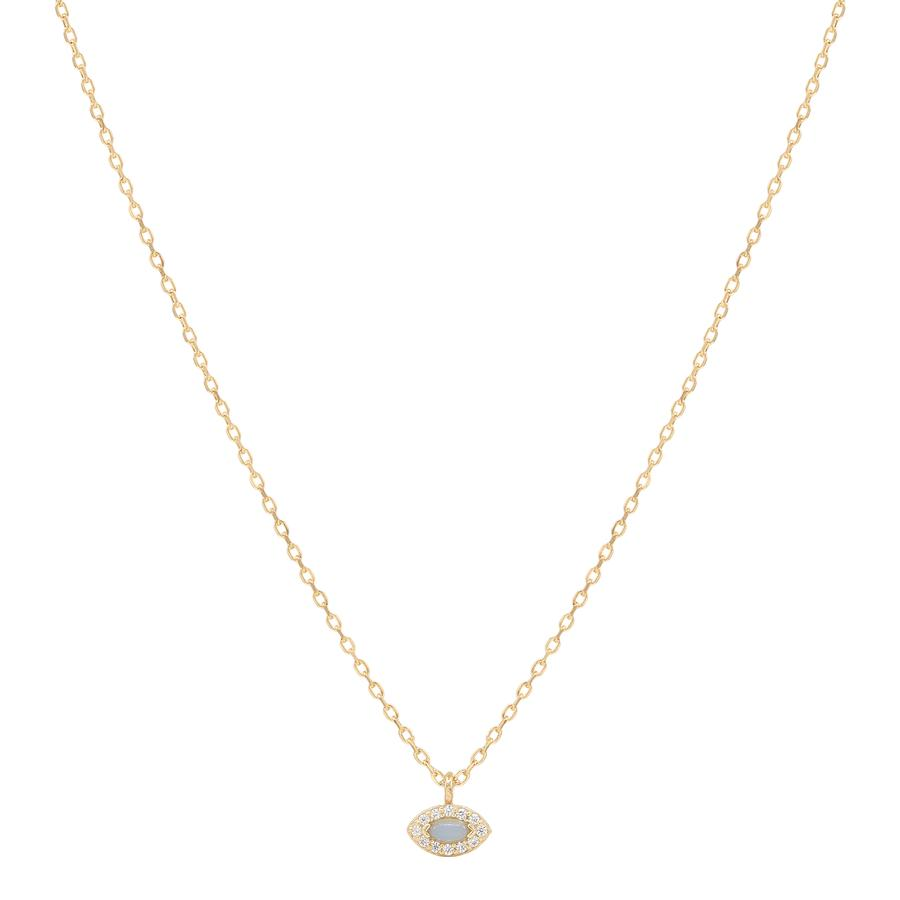 Gold Eye of Protection Necklace - Prae Store