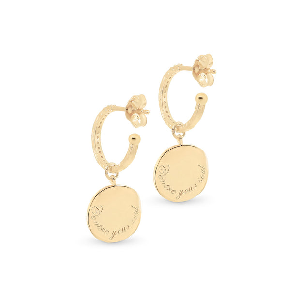 Gold Goddess of Earth Hoops