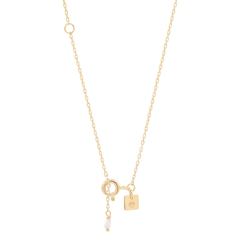 Gold Goddess of Fire Necklace - Prae Store