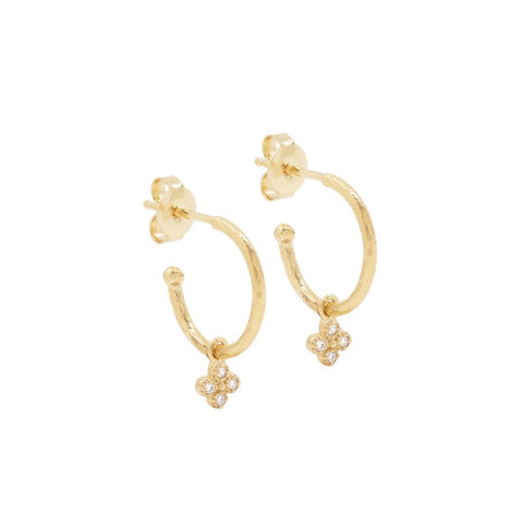 Gold Luminous Hoops - Prae Store