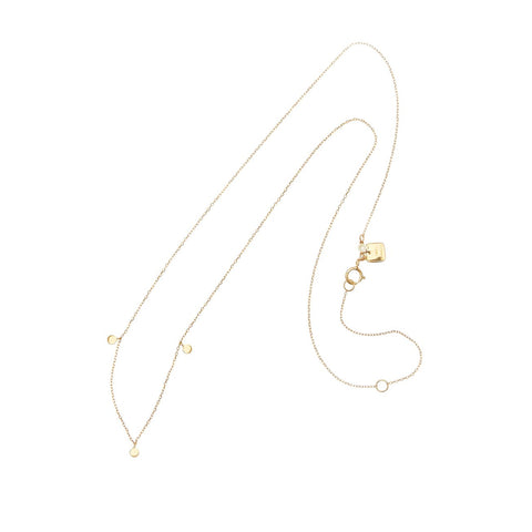 14k Gold Lunar Necklace - Prae Store