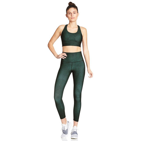 Free Form Sports Bra - Forest Green Pebble