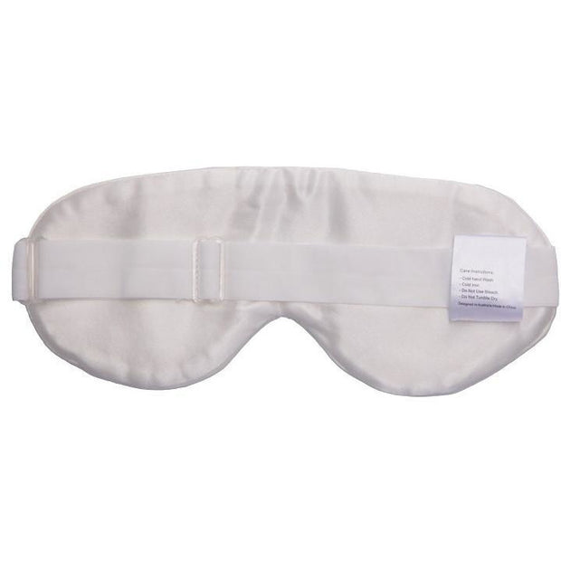 Silk Eye Mask - Natural White