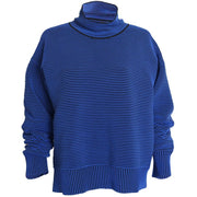 Rib Sweater - Azure Blue/Navy - Prae Store