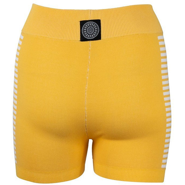 Yoni Side Stripe Short - Lemon Cream