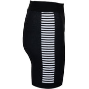 Bodhi Side Stripe BikerShort - Black Cream