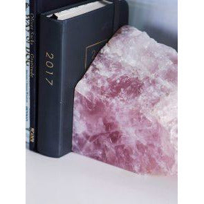 Rose Quartz Bookends - Prae Store